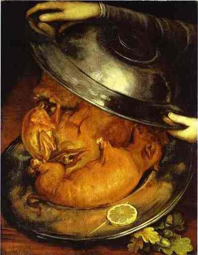 """Фото 12. """"Повар"""", 1570. Масло на панели. Картина-перевыртыш"""