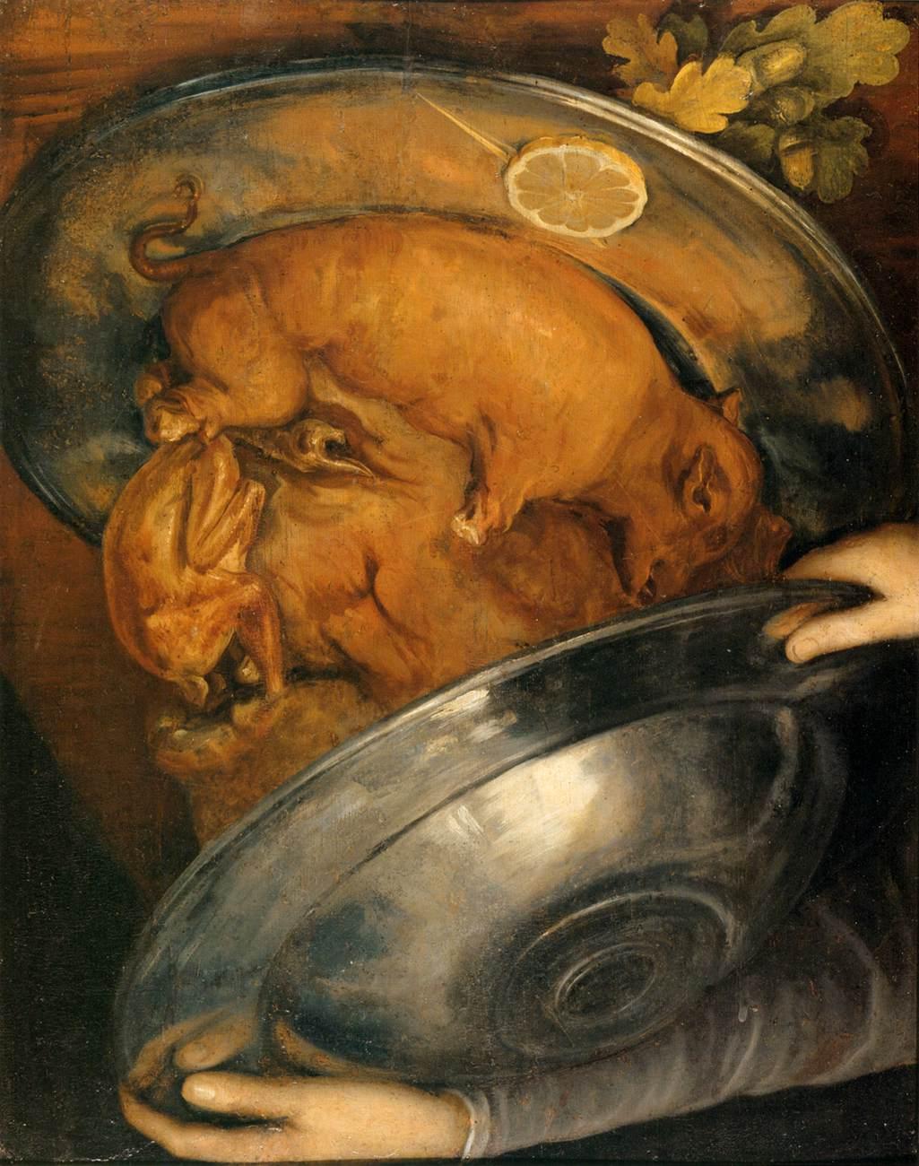 """Фото 13. """"Повар"""", 1570. Масло на панели. Картина-перевыртыш"""