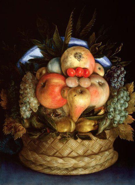 Фото 2. Корзина с фруктами