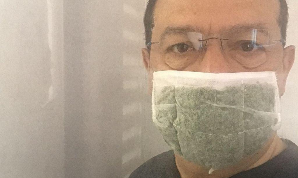 Маска з рослин для захисту від вірусів