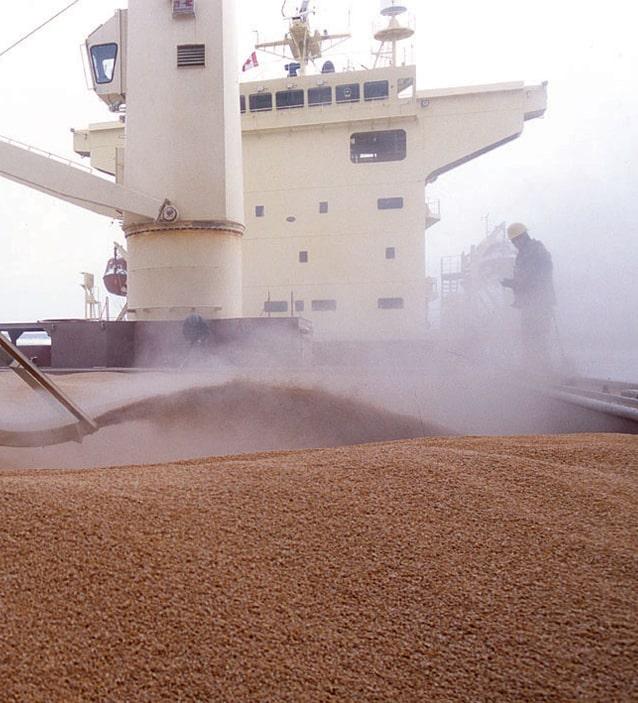 Сократилась отгрузка зерна